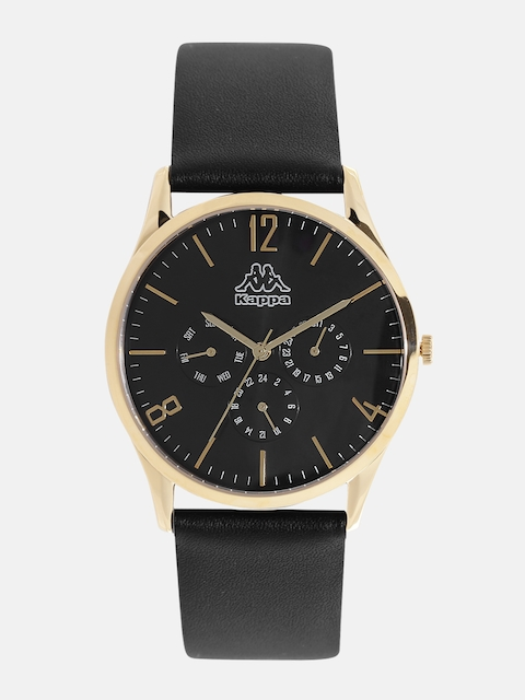 Kappa Men Black Multifunction Dial Watch KP-1423M-E