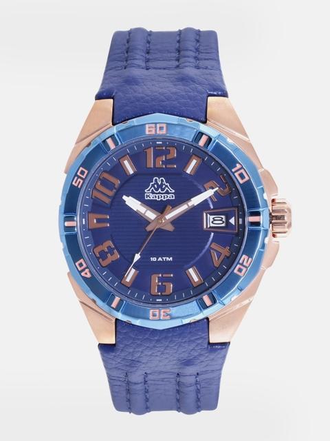 Kappa KP-1426M-D Navy Blue Dial Analog Men's Watch (KP-1426M-D)