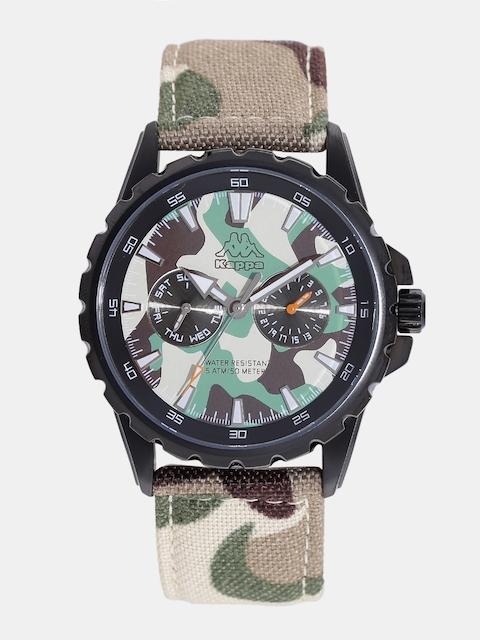 Kappa Men Beige & Green Camouflage Print Multifunction Dial Watch KP-1427M-E