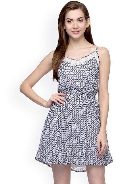 Oxolloxo Women Multicoloured Printed A-Line Dress  available at myntra for Rs.399
