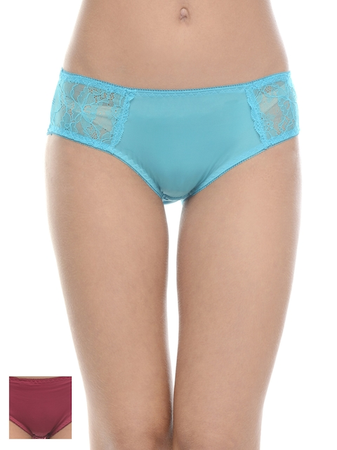 Da Intimo Women Pack of 2 Briefs with Lace Detail DIU-190191