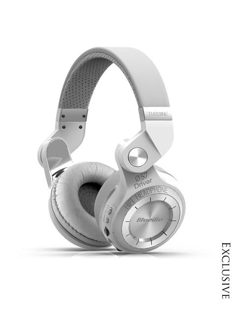 Bluedio Unisex White Over Ear T2+ Bluetooth Headphones