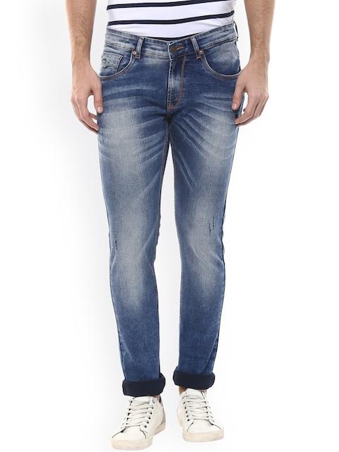 SPYKAR Men Blue Super Skinny Fit Low-Rise Clean Look Jeans