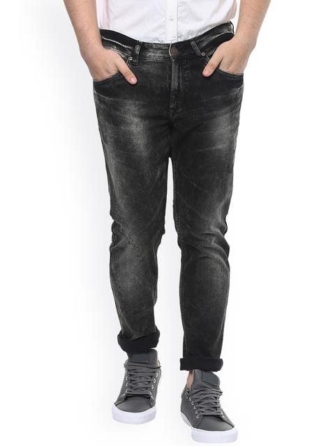 SPYKAR Men Black Super Skinny Fit Low-Rise Clean Look Jeans