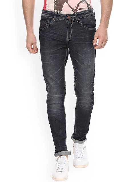 SPYKAR Men Navy Super Skinny Fit Low-Rise Clean Look Jeans