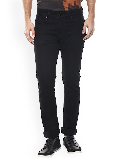 SPYKAR Men Black Tapered Fit Low-Rise Clean Look Jeans