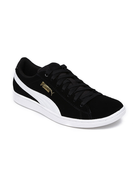 Puma Women Black Vikky Sneakers