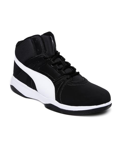Puma Men Black Rebound Street Evo SL IDP High-Tops Sneakers