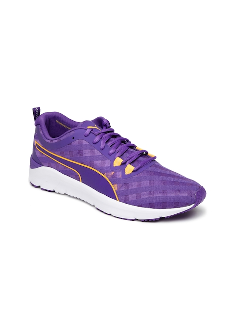 Puma Women Purple Cross Hatch Training Shoes