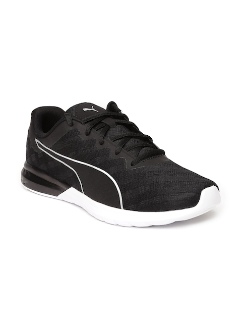 Puma Women Black Vigor Cross Hatch Running Shoes