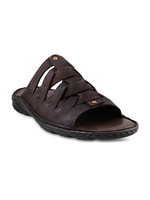 Mochi Men Brown Leather Sandals