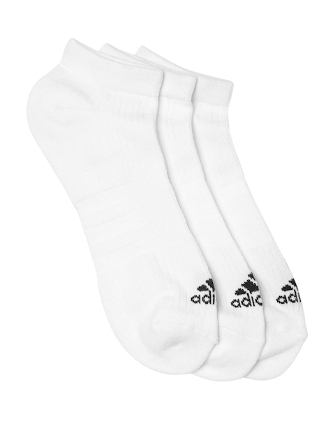 Adidas Unisex Pack of 3 White 3S PER N-S HC3P Ankle-Length Socks