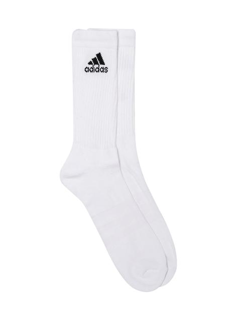 Adidas Unisex White 3S PER CR HC Above Ankle-Length Socks