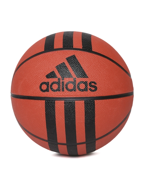 Adidas Men Orange D 29.5 Tri-Striped Basketball