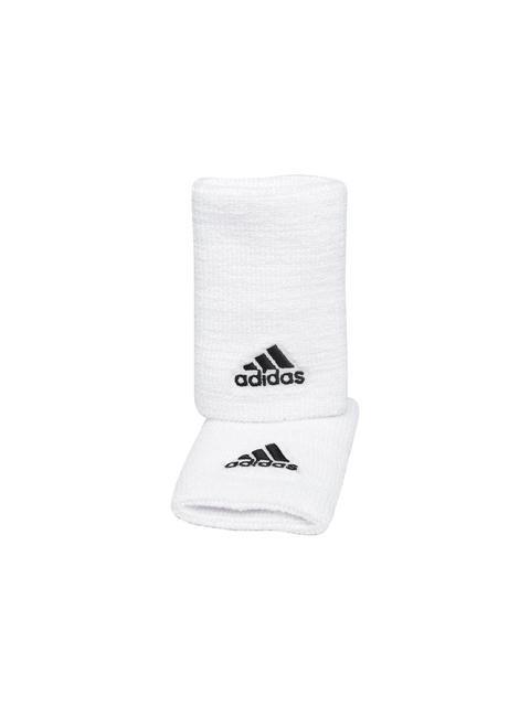 Adidas Unisex Set of 2 White Tennis Wristbands