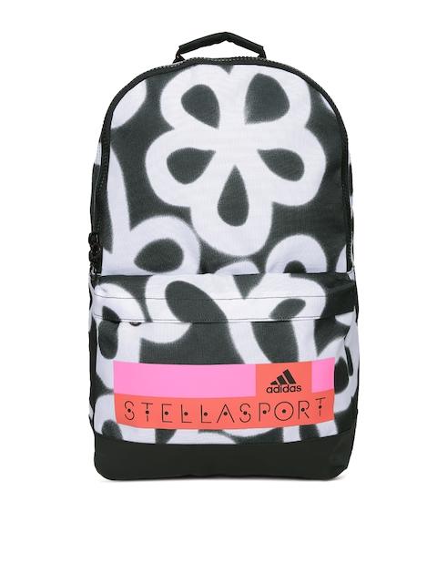 Adidas Stellasport Women Black & White SC CL Flower Printed Backpack