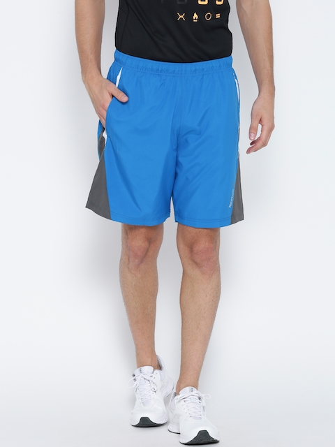 Reebok Men Blue R ATH Solid Training Shorts  available at myntra for Rs.779