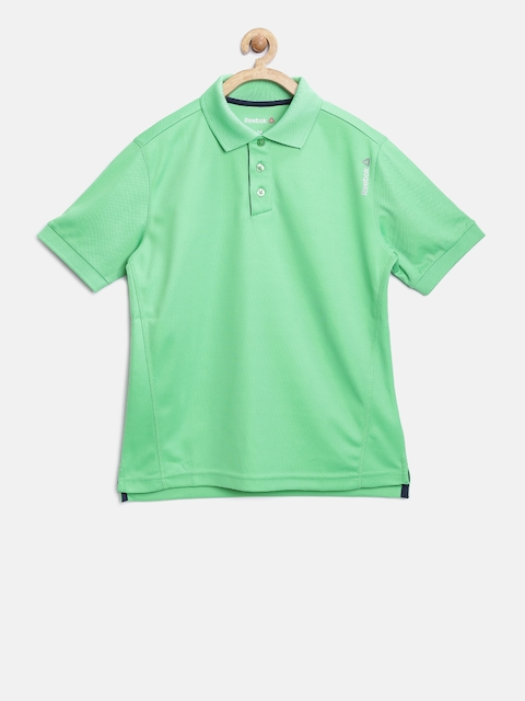 Reebok Kids Green B Cor Poly Polo Collar T-Shirt  available at myntra for Rs.599