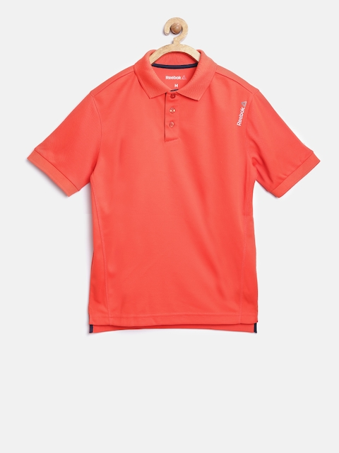 Reebok Kids Orange B COR Solid Polo Collar T-shirt  available at myntra for Rs.649