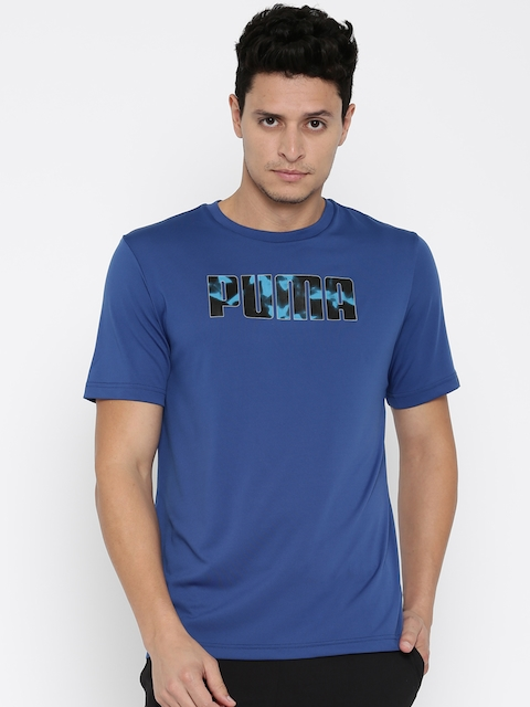 Puma Men Blue Future Tec Printed Slim Fit T-shirt