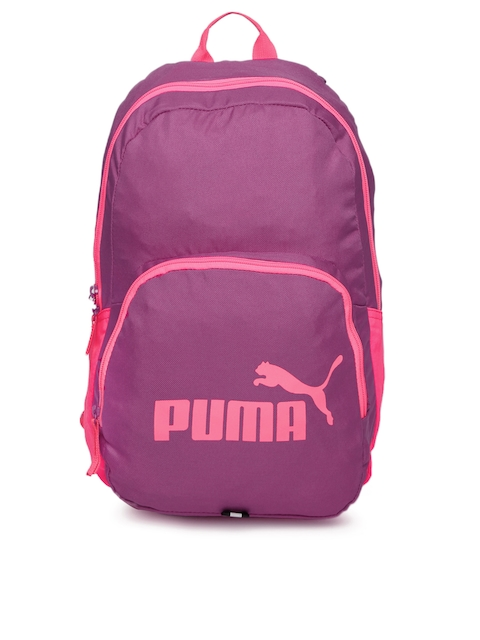 Puma Women Purple & Pink Phase Colourblocked Backpack  available at myntra for Rs.779