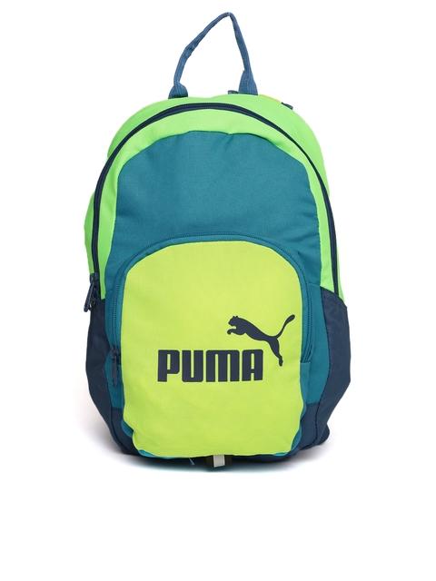 Puma Unisex Blue & Green Phase Small Colourblocked Backpack