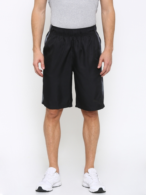 Puma Men Black Formstripe Woven 10 Sports Shorts