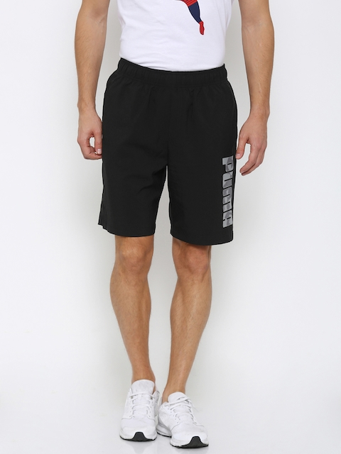 Puma Men Black Hero Solid Regular Fit Sports Shorts