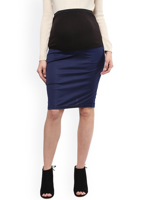 Mamacouture Navy Maternity Pencil Skirt