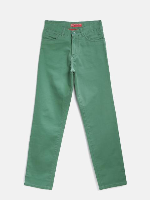 Tweens by Monte Carlo Boys Green Trousers