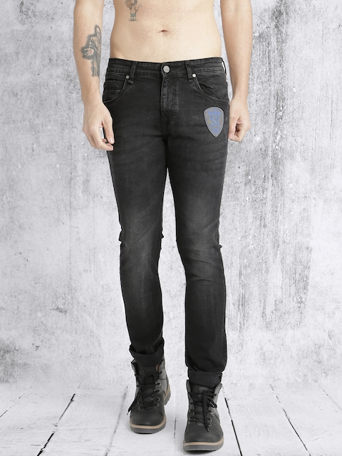 Roadster Men Black Skinny Fit Stretchable Jeans