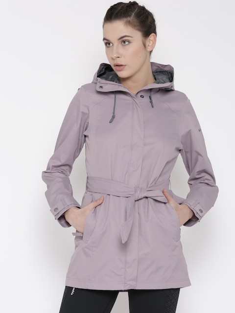 Columbia Lavender Pardon My Trench Hooded Outdoor Rain Jacket