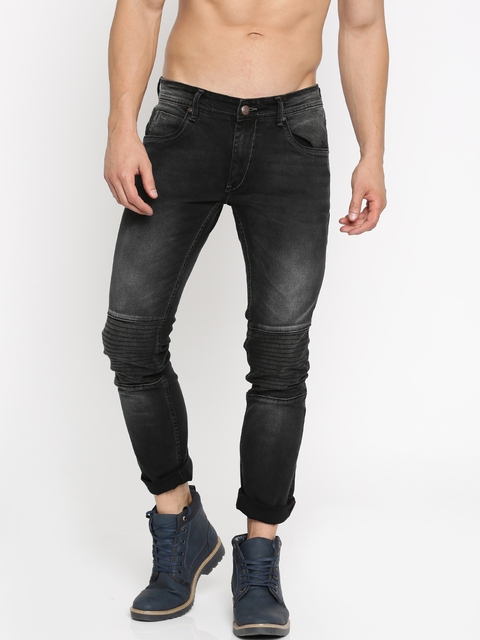 Roadster Men Black Skinny Fit Mid-Rise Clean Look Jeans