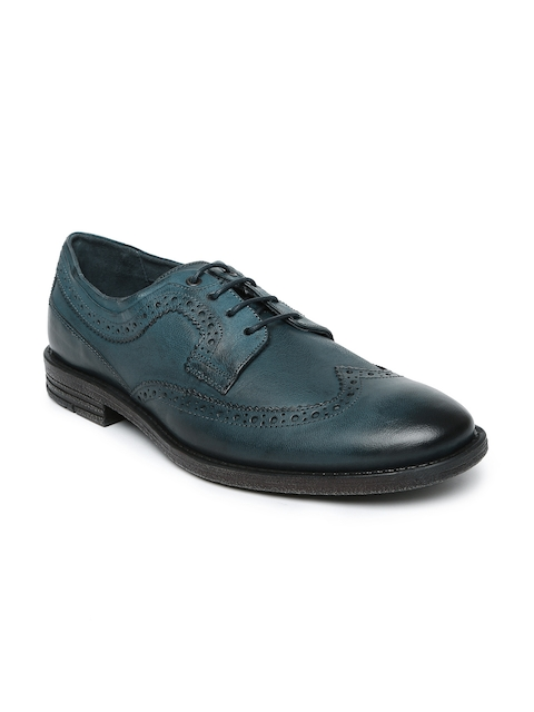 Levis Men Blue Leather Brogues