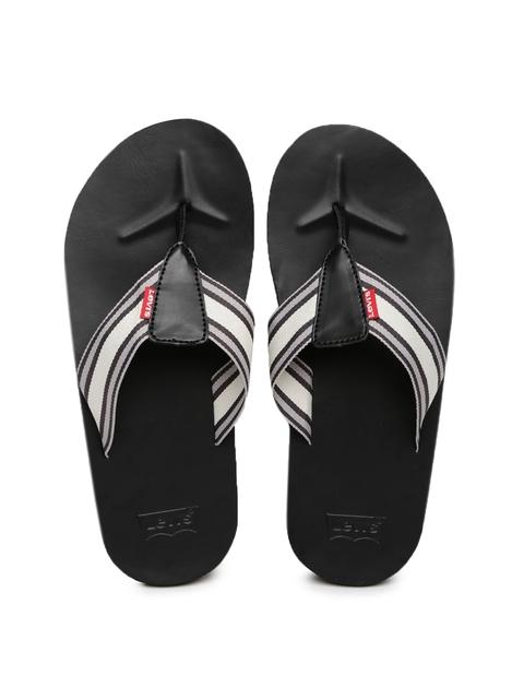 Levis Men Beige & Grey Sandals