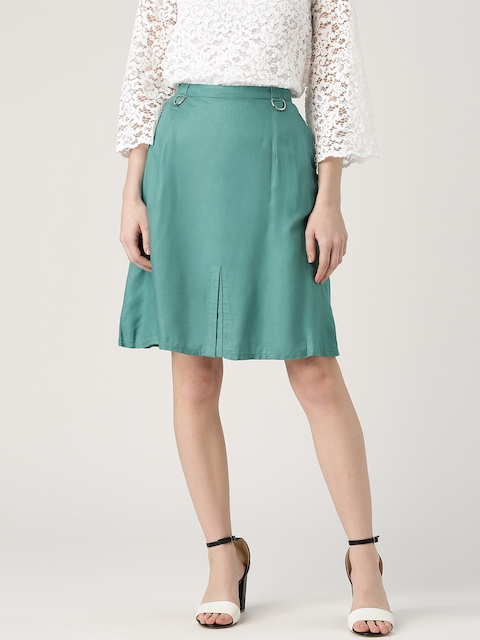 Marie Claire Green A-Line Skirt