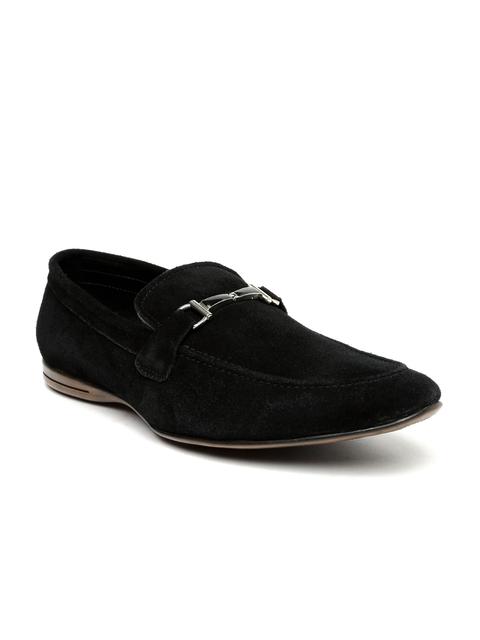 San Frissco Men Black Solid Loafers