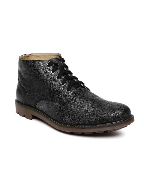 Knotty Derby Men Black Solid Dolohov Flat Boots