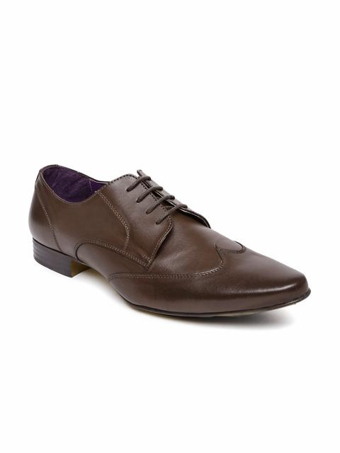 Knotty Derby Men Brown Elphias Wing Formal Shoes