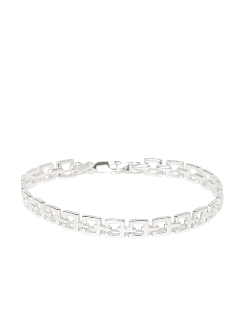 Taraash Men Sterling Silver Cut-Out Bracelet