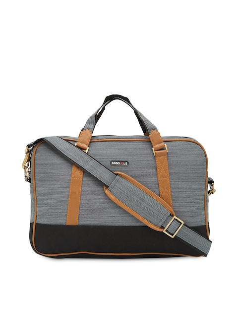 BagsRus Unisex Grey Handmade Laptop Bag