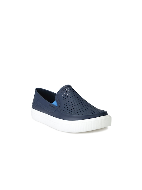 Crocs Boys Navy Perforated Regular Slip-On Sneakers