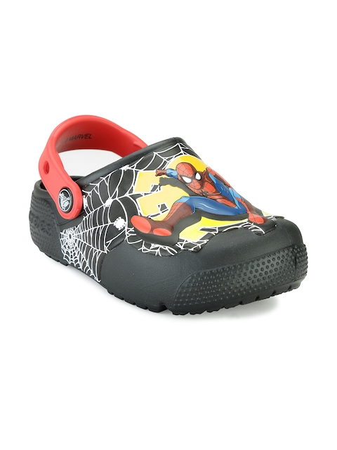 Crocs Boys Black Printed Clogs