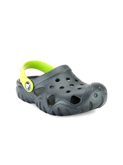 Crocs Girls Black Cut-Out Clogs