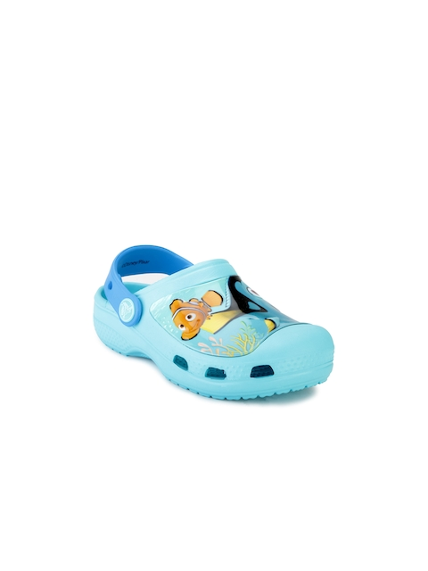 Crocs Girls Blue Printed Clogs