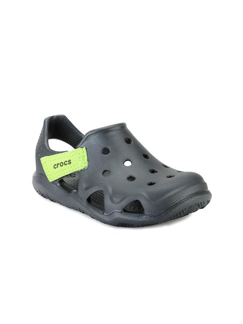 Crocs Girls Black Cut-Out Clogs