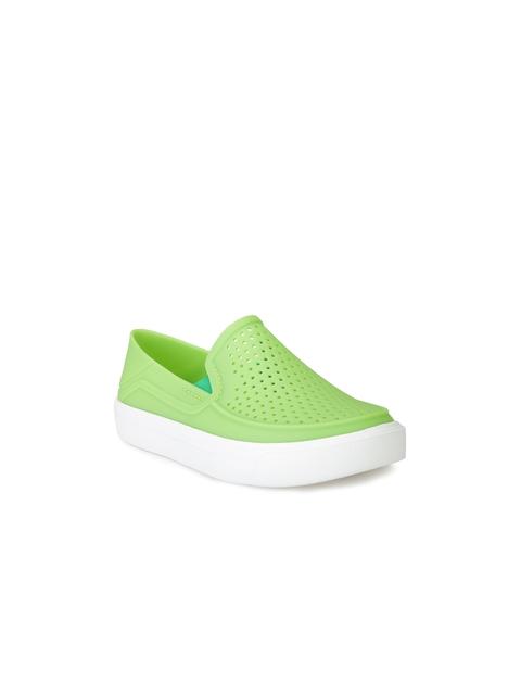 Crocs Girls Green Slip-On Sneakers
