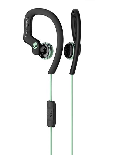 Skullcandy Black & Green Chops Flex Sport In-Ear Earphones with Mic