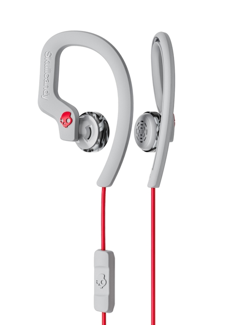 Skullcandy Grey & Red Sport In-Ear Earphones with Mic S4CHY-K605