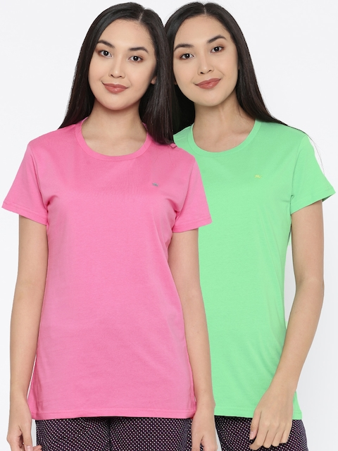 Monte Carlo Women Pack of 2 Solid T-shirts